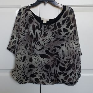 Cheetah print tunic- would fit a S M or L